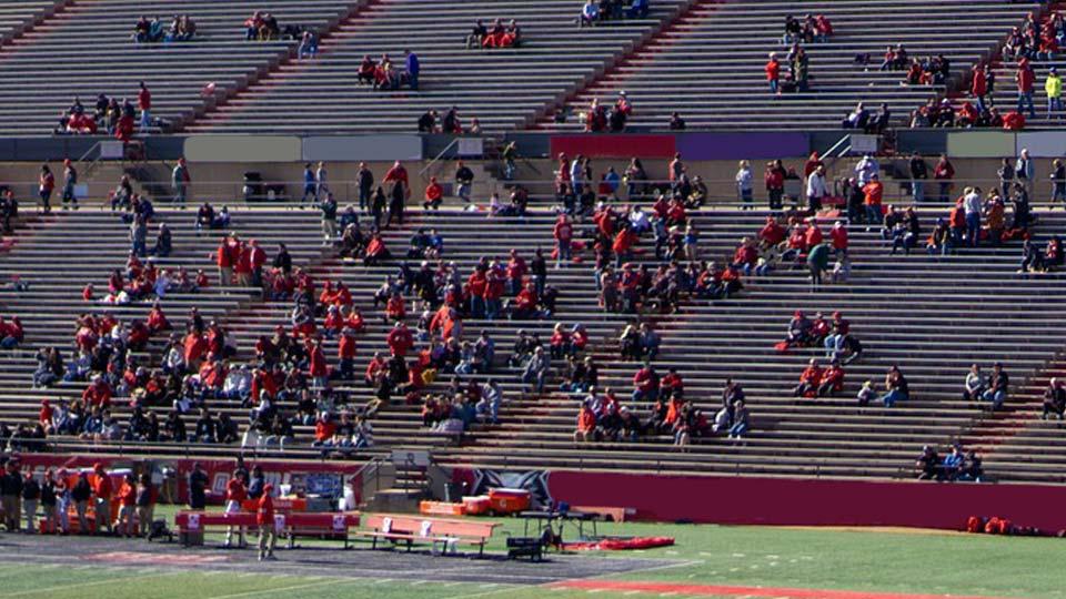 Football fans, Stadium