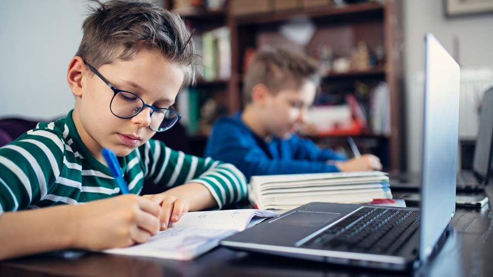 COVID, Coronavirus, Home Online School