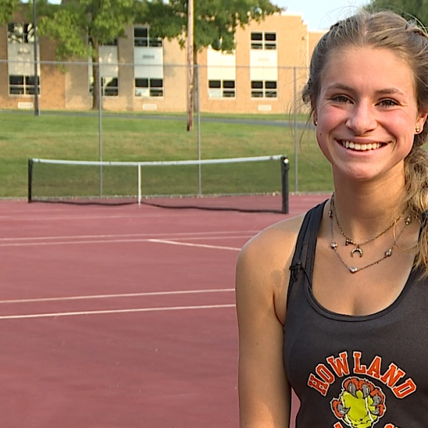 The Howland senior is a three-time Sectional Qualifer and Number 1 tennis player for the Tigers with a 4.2 GPA