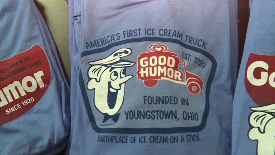 The staff at a local t-shirt design company launched a new line of clothing that highlights Youngstown's role in the early ice cream industry, but it also raises money for Akron Children's Hospital.