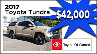 2017 Toyota Tundra, Toyota of Warren, MyValleyCars