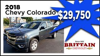 2018 Chevy Colorado, Brittain Chevrolet, MyValleyCars
