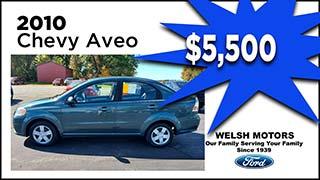 Chevy Aveo, Welsh Motors, MyValleyCars