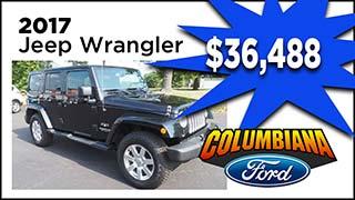 Jeep Wrangler, Columbiana Ford, MyValleyCars