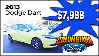 2013 Dodge Dart, Columbiana Ford, MyValleyCars