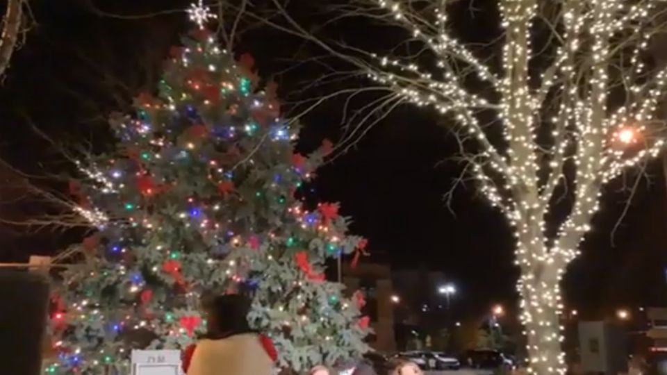 Youngstown's Christmas tree is lit up and burning brightly downtown, but the Light Up Youngstown event Friday looked a little different this year.