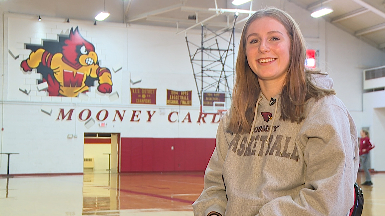 The Cardinal Mooney senior is an All Conference basketball and volleyball player, plus a straight-A student with a 4.1 GPA