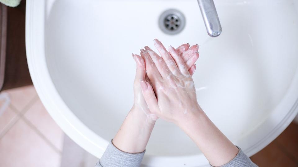 Washing hands, soap, hygiene