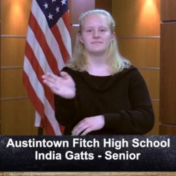 Austintown Fitch - India Gatts - Senior
