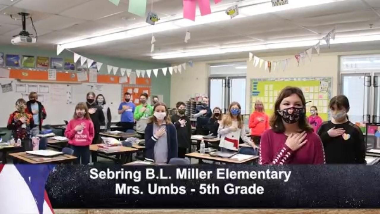 Sebring B.L. Miller - Mrs. Umbs - 5th Grade