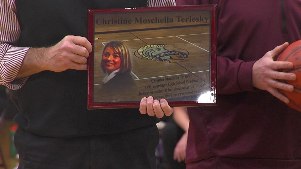 The life of Christine Terlesky was honored Wednesday at the girls basketball game.