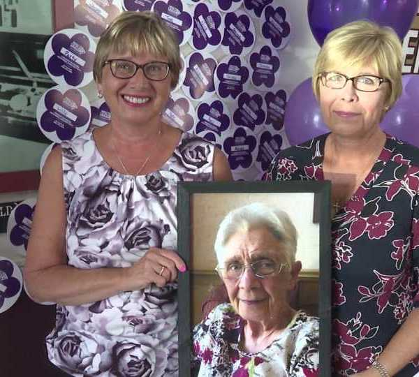 Sisters Judy Gabriele and Elaine Kawecki raise money for Alzheimer's research in honor of their mother Loretta Nemenz