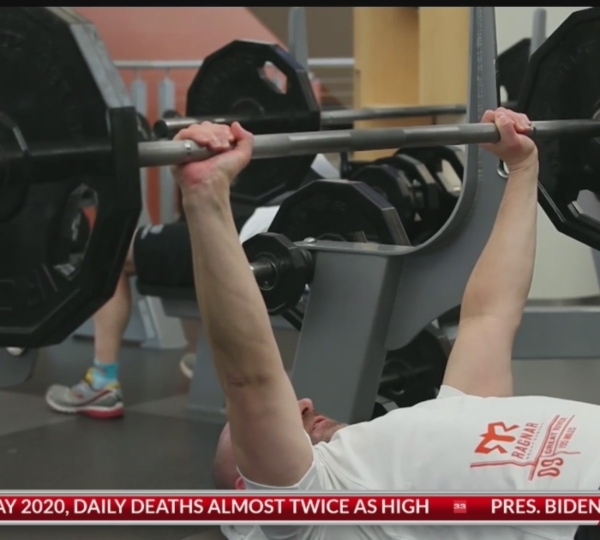 Pushing yourself past your limit in the gym may have painful consequences