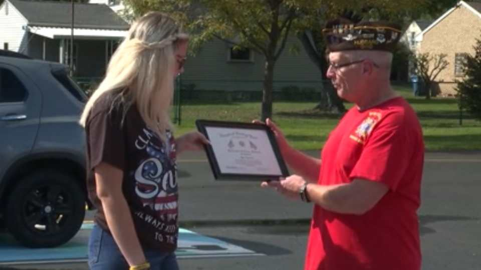 This week's Hometown Hero is a senior at Hubbard High School, Mya Reynolds, who overcame adversity and, by doing so, was able to give back to first responders in her community.